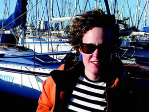 Meg Vandermerwe,  our newest member of the JML Council  getting to grips with sailing.